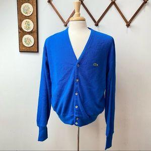 Izod Lacoste Vintage Orlon Acrylic Cardigan